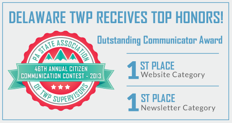 delaware township receives top honors - click to read more.